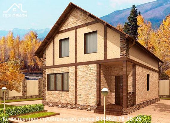 Варианты отделки фасадов домов по канадской технологии