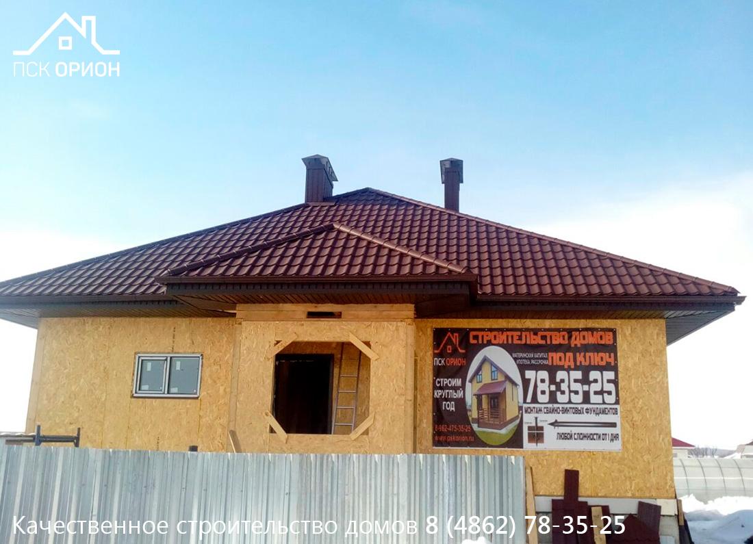 Мы ведем строительство жилого дома 142м2 с цокольным этажом в Орловском районе.