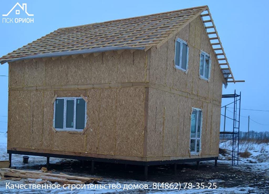 Мы ведём строительство жилого дома 112 м2 в Орловском районе.