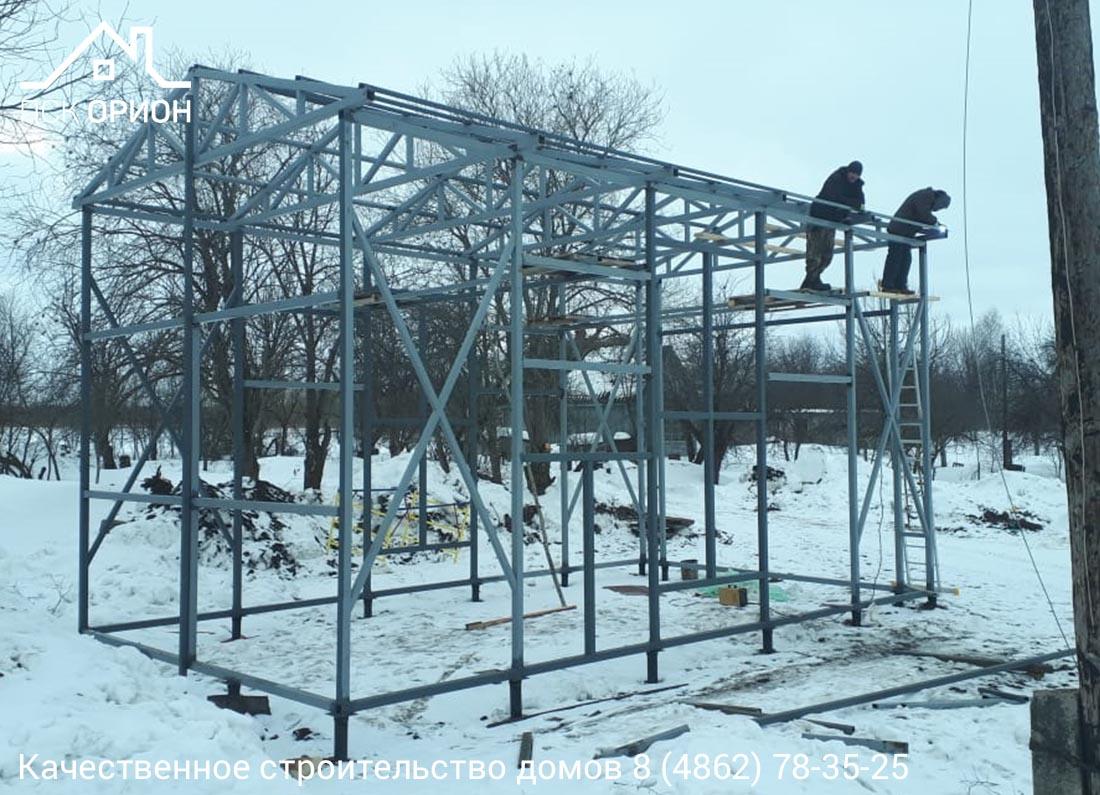 Мы ведём строительство тёплого ангара 55 м2 в Мценском районе Орловской области.