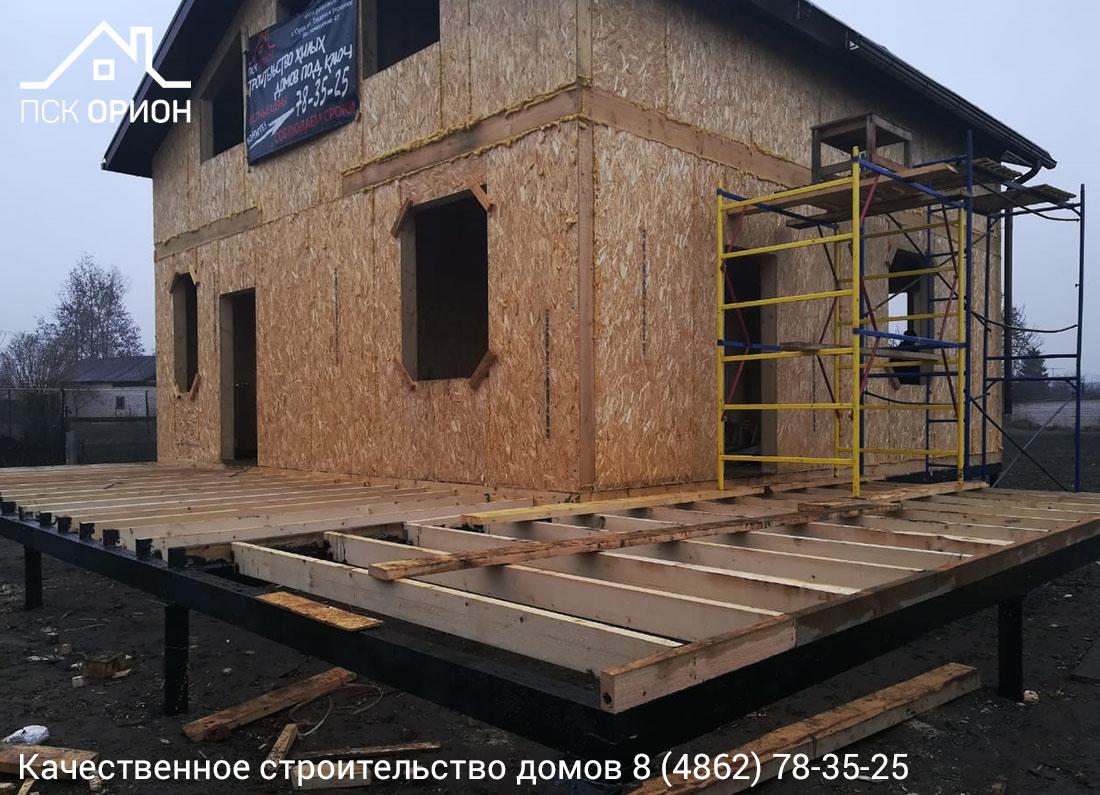Мы ведем строительство жилого дома 150 м2 в Орловском районе.