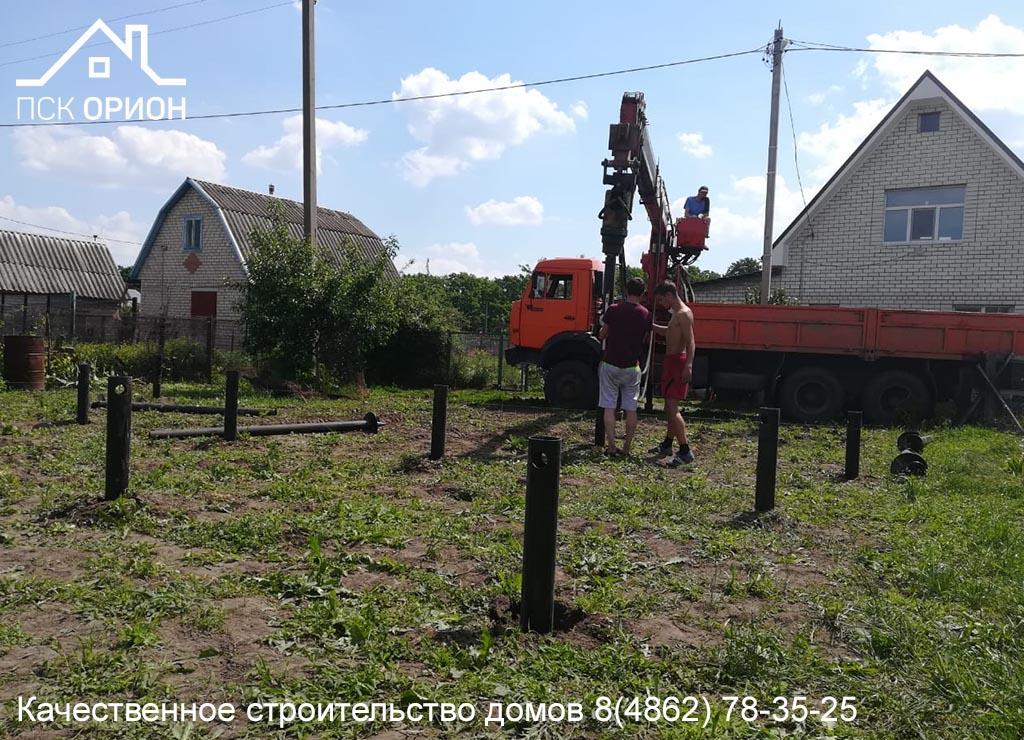 Мы приступили к строительству дома площадью 78 м2 в Орловском районе.