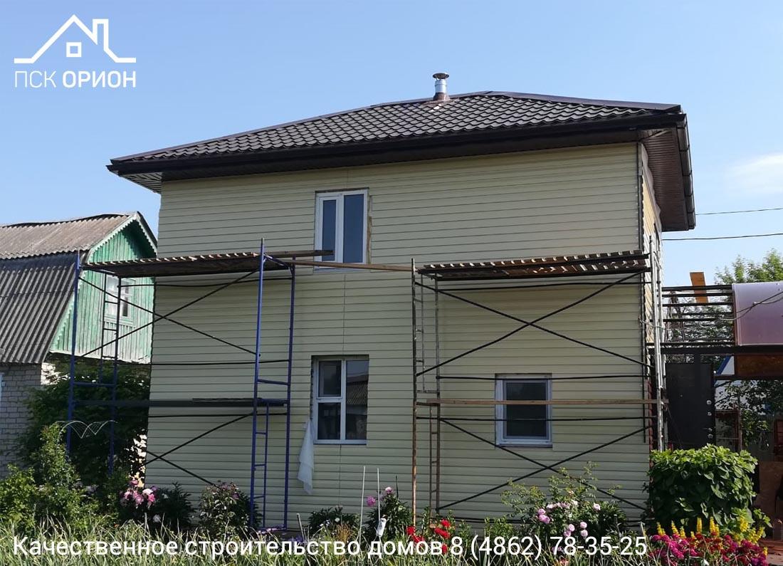 Мы ведём строительство 2-го этажа дачного дома в Орловском районе.