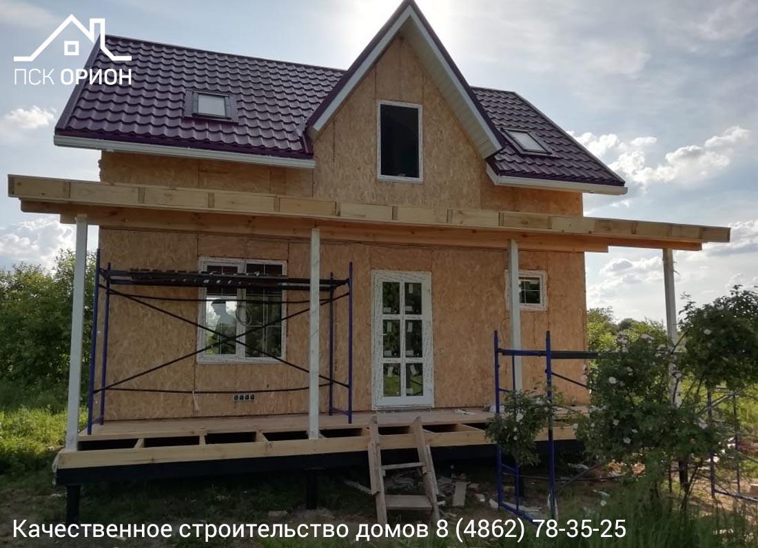 Мы ведем строительство жилого дома 84 м2 в Мценском районе Орловской области.