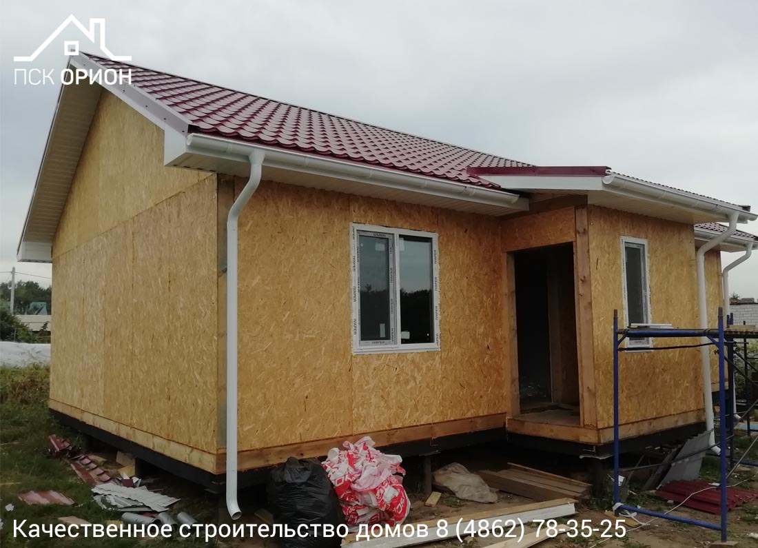 Мы ведем строительство дома площадью 78 м2 в Орловском районе.