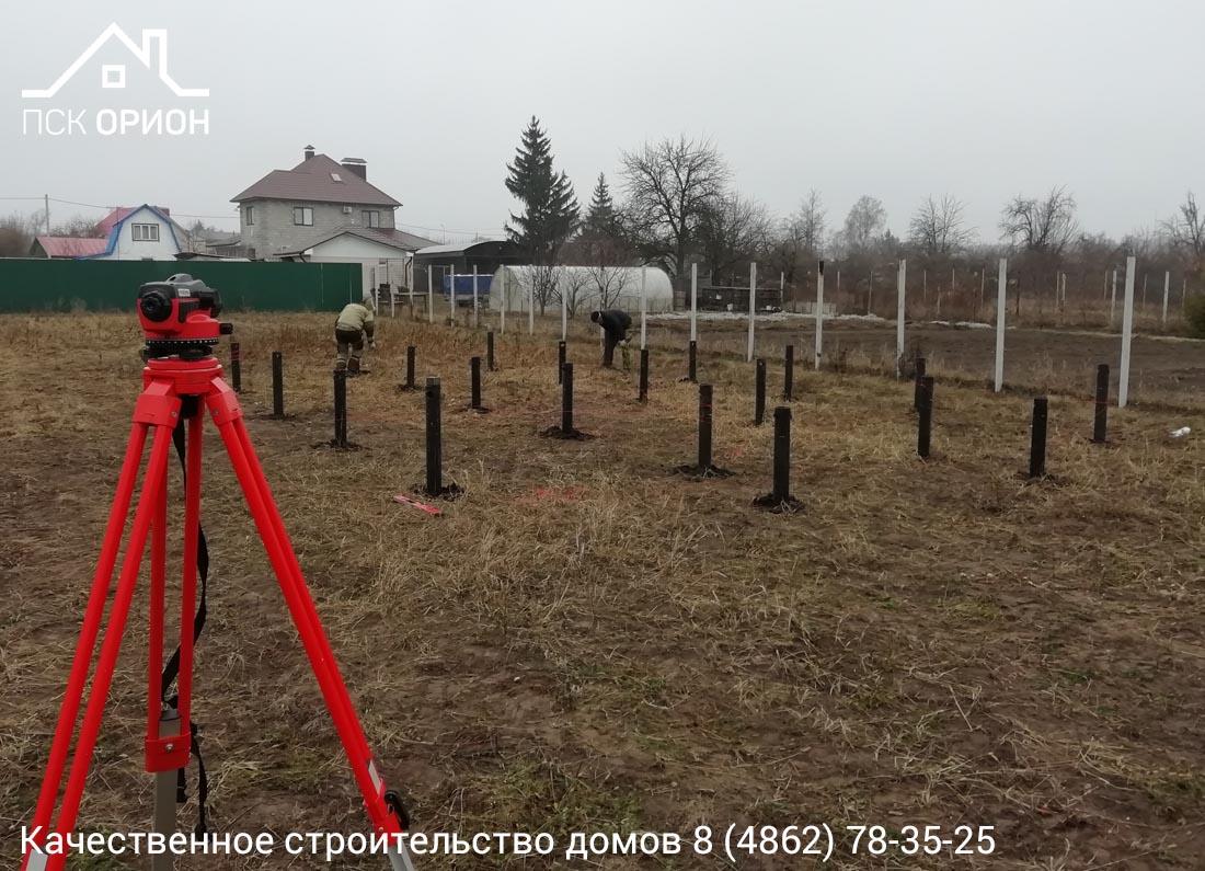 Мы приступили к строительству жилого дома 121 м2 в Орловском районе.