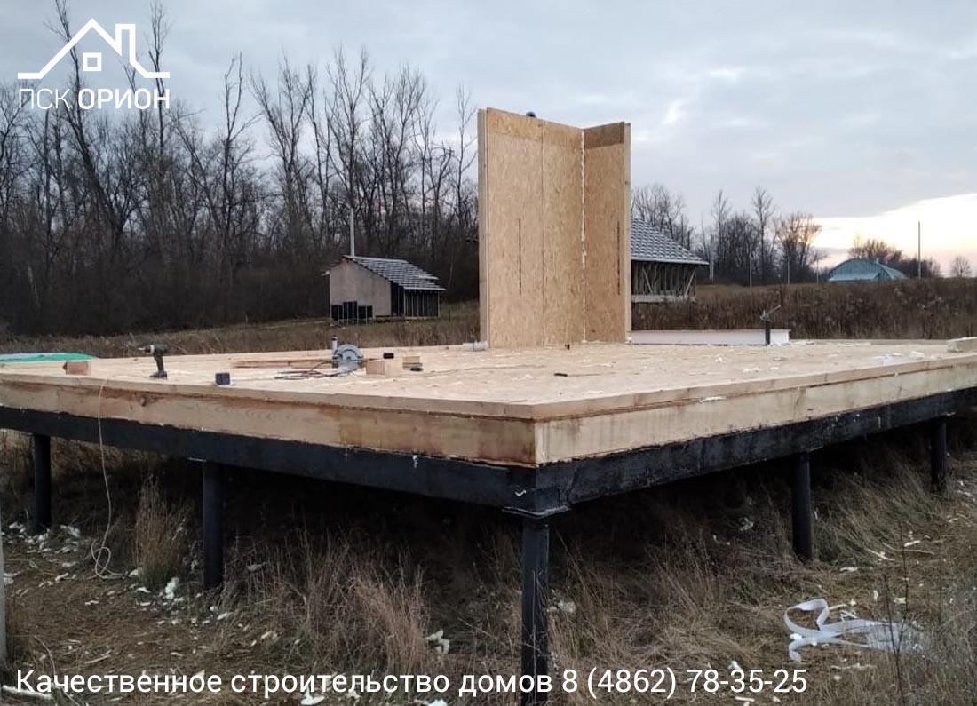 Мы ведём строительство жилого дома 177 м2 в Орловском районе.