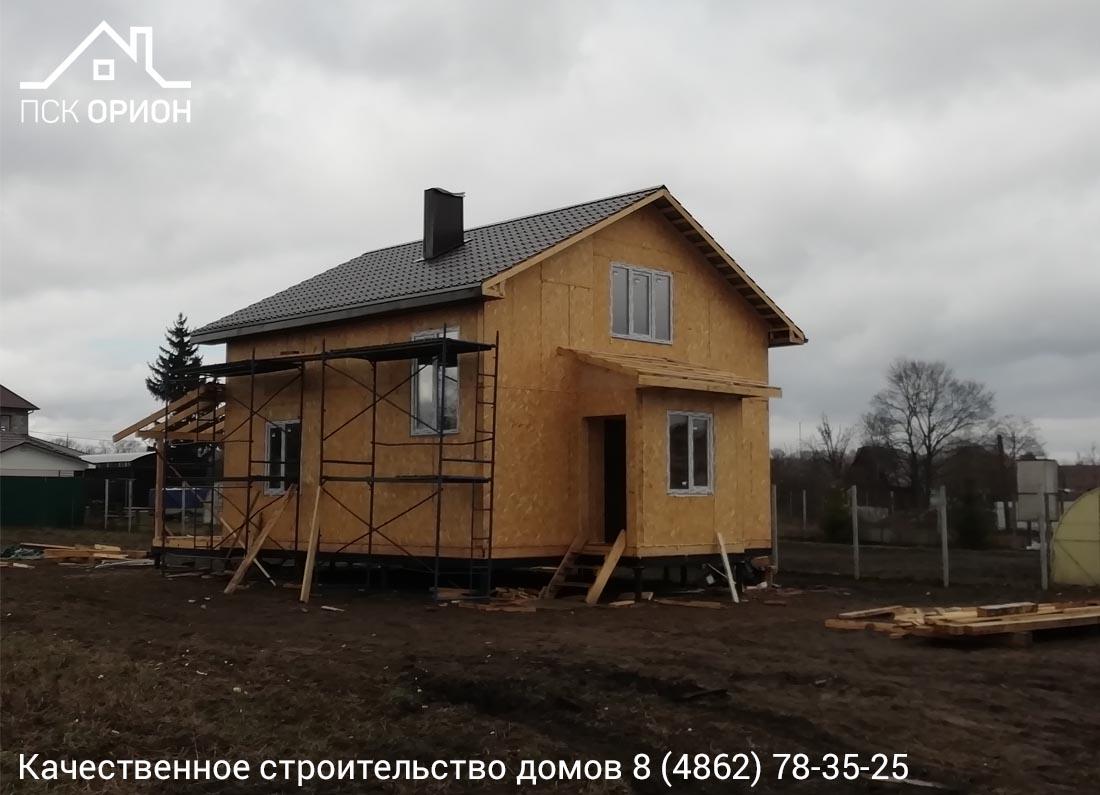 Мы ведем строительство жилого дома 121 м2 в Орловском районе.