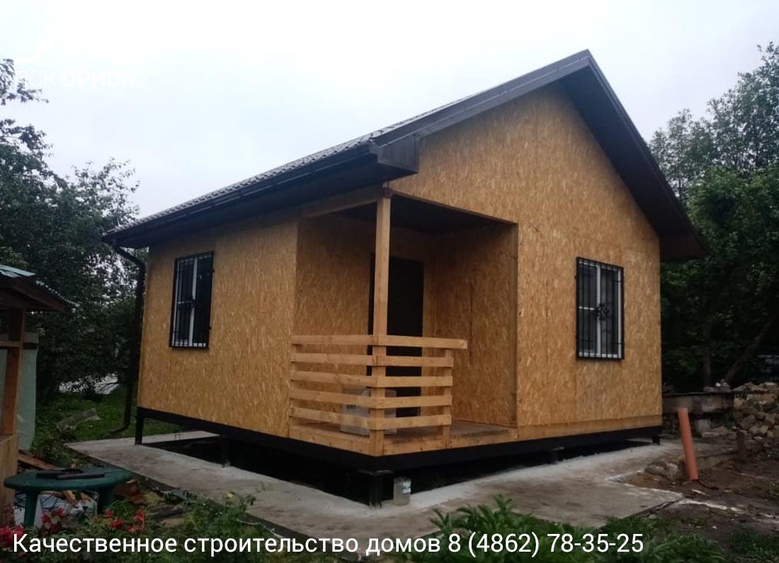 Мы завершили строительство дачного дома 36 м2 в Орловском районе.