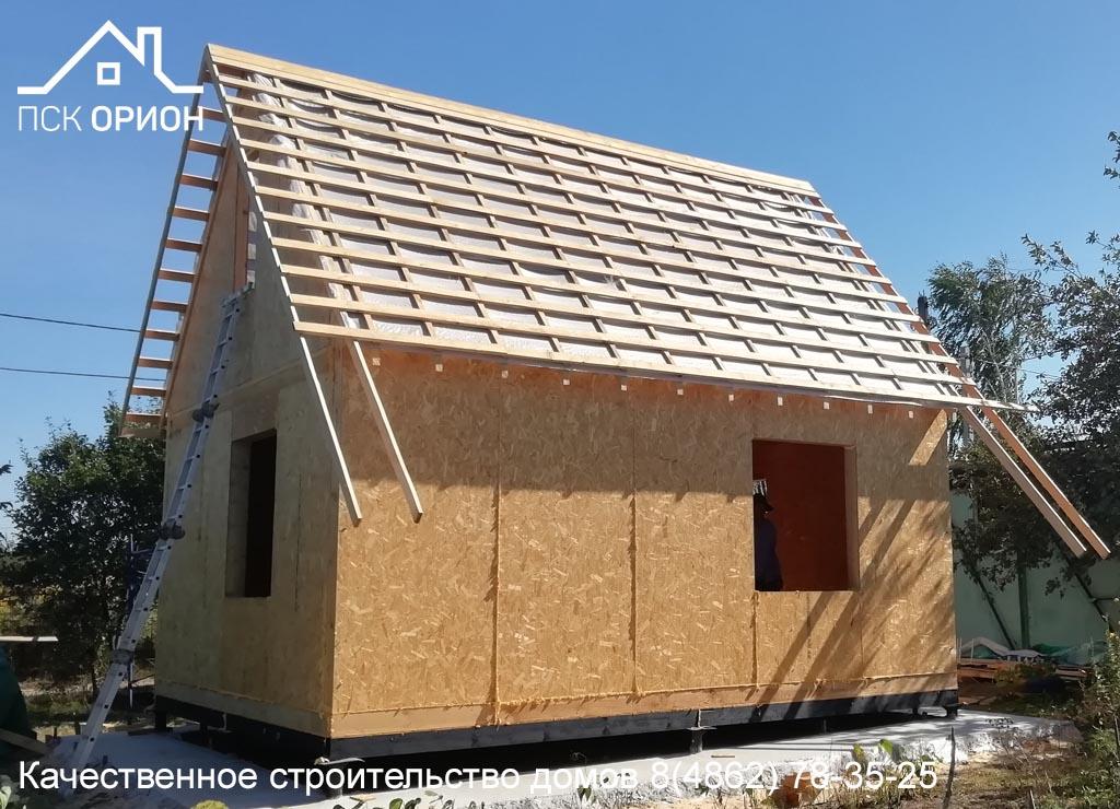 Мы ведём строительство дачного дома 50 м2 в Орловском районе.