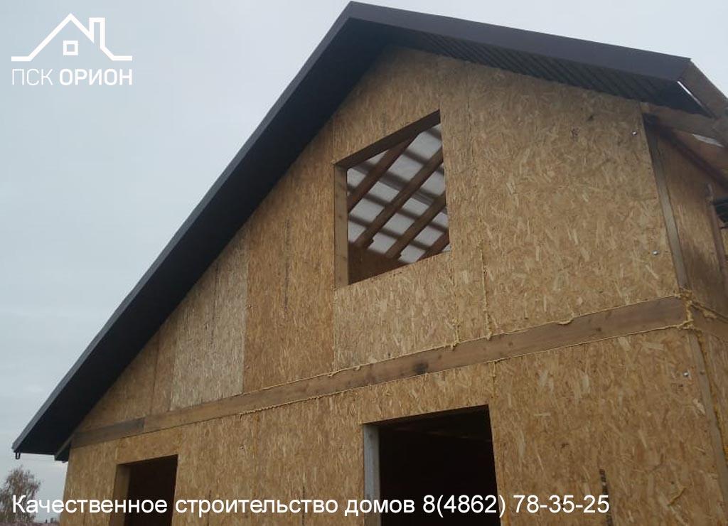 Мы ведём строительство жилого дома 100 м2 в Орловском районе.