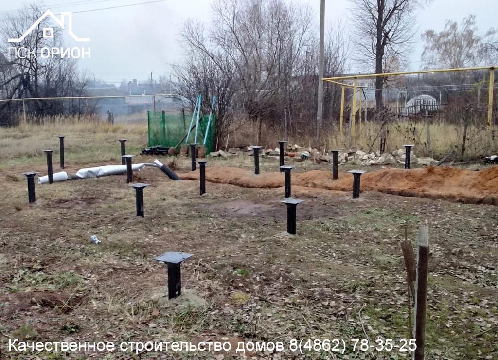 Мы приступили к строительству жилого дома 144 м² по проекту «Калгари» в Орловском районе.