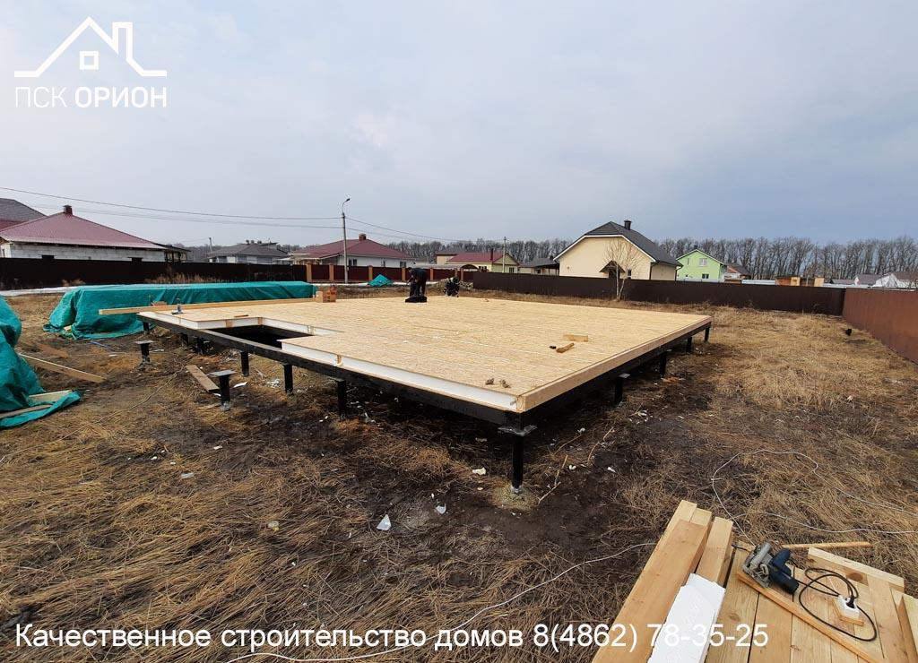 Мы ведем строительство жилого дома 118 м² в Орловском районе.