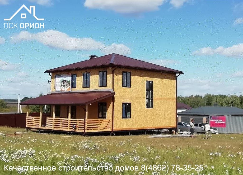 Мы производим отделочные работы в доме 230 м² построенным нашей компанией в 2020 г.