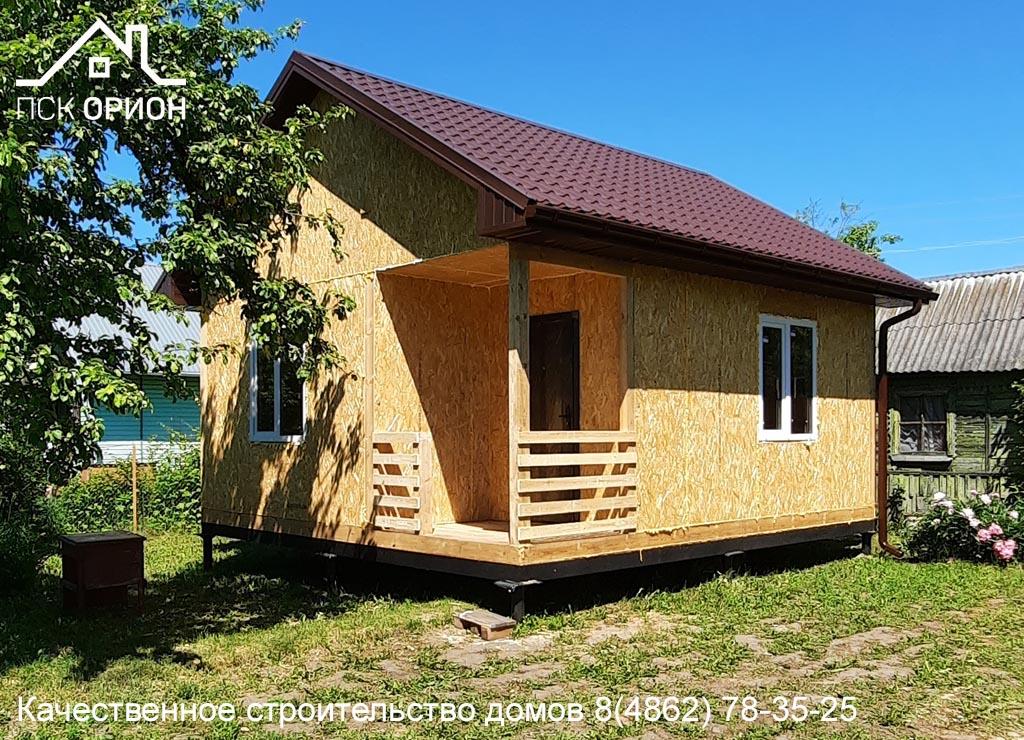 Мы завершили строительство дачного дома 36 м² в г. Орёл.